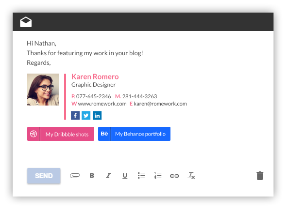 Professional Email Signature Template Generator by WiseStamp
