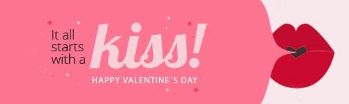 Happy Valentine's mail signature banner