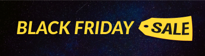 Black Friday galaxy background banner