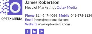 Corporate Email Signature for head of marketing