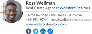 wisestamp email signature with a gif for real estate broker