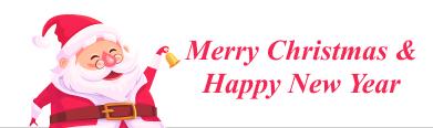 Merry Cristmas happy Santa banner