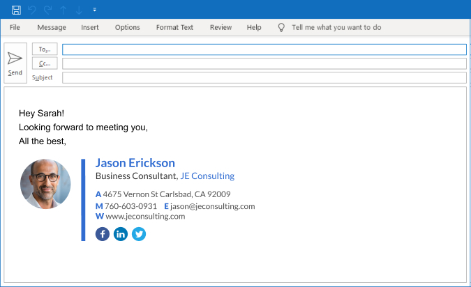 Create an Outlook Signature - Add a Signature in Outlook