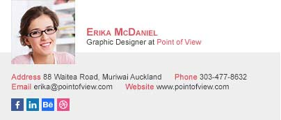 graphic designer email signature