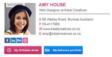 web designer email signature