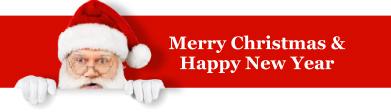 Merry Christmas Santa banner