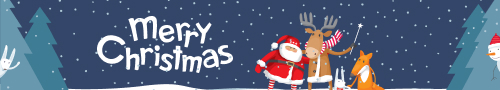 Merry Christmas cartoon banner